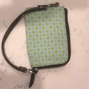 Wristlet with wallet interior